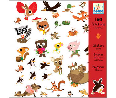 160 STICKERS DJECO ANIMALITOS (+3A-99A)