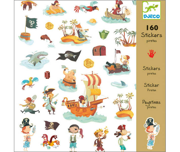 160 STICKERS DJECO PIRATAS (+3A-99A)